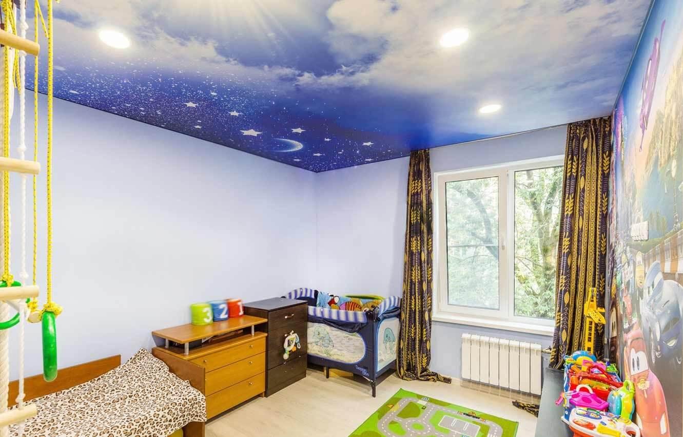 Натяжной потолок с фотопечатью
